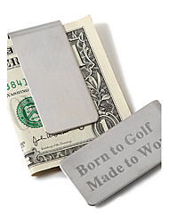 cheap -Groom Groomsman Stainless Steel Money Clips Wedding Anniversary Birthday Congratulations Thank You Business