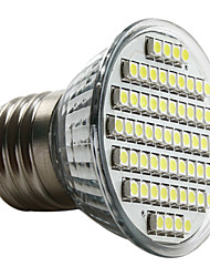 cheap -3W 6000 lm E26/E27 LED Spotlight MR16 60 leds SMD 3528 Natural White AC 220-240V