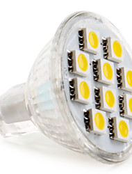 2W GU4(MR11) LED Spotlight MR11 10 SMD 5050 120lm Warm White Cold White 2800K DC 12V