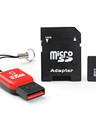 Class 10 32GB MicroSDHC TF Memory Card with USB Card Reader and SDHC SD Adapter