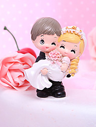 cheap -Cake Topper Garden Theme Classic Theme Funny & Reluctant Classic Couple Resin Wedding Bridal Shower with Gift Box