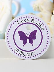 Недорогие -персонализированный знак благосклонности - фиолетовая бабочка (набор из 36) свадебных услуг