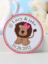 povoljno -personalizirani favor tag - ružičasti lava (set od 36) vjenčanja favorizira