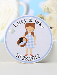 cheap -Personalized Favor Tag - Girl (Set of 36) Wedding Favors Beautiful