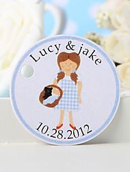 baratos -etiqueta de favor personalizada - menina (conjunto de 36) favores de casamento lindos
