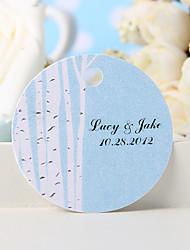 baratos -etiqueta de favor personalizada - árvore branca (conjunto de 36) favores de casamento