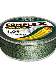 cheap -100M / 110 Yards PE Braided Line / Dyneema / Superline Fishing Line Green 10LB / 15LB / 25LB / 30LB / 35LB / 40LB / 50LB / 60LB / 20LB