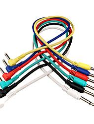 """Недорогие -DT аудиокабель кабель связи DC03 с 6pcs 1/4 """"моно + правый угол 1/4"""" моно штекер в 0,9 метра"""