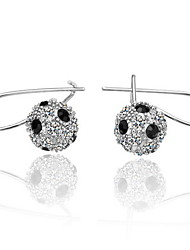 aleación de diamantes de imitación moda corte redondo pendientes (más colores) estilo elegante