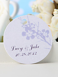 cheap -Personalized Favor Tag - Silvery Plum Blossom (Set of 36) Wedding Favors