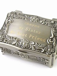 cheap -Box Jewelry Boxes - Personalized, Glam, Vintage Silver 9 cm 6 cm 4 cm / Wedding / Anniversary / Gift / Valentine