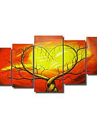 baratos -Pintados à mão Abstrato qualquer Forma Tela de pintura Pintura a Óleo Decoração para casa 5 Painéis