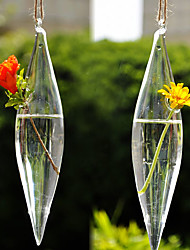 Table Centerpieces Hanging Spendle Shaped Glass Vase  Table Deocrations