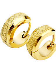 cheap -Men's Titanium Steel Golden Arenaceous Earring  Christmas Gifts