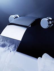 Moderní Nástěnná montáž Vodopád with  Keramický ventil Se třemi otvory Dvěma uchy tři otvory for  Pochromovaný , Koupelna Umyvadlová