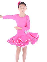 billige -Latin Dans Kjoler Træning Viskose 3/4-ærmer