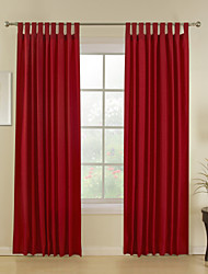 Rod Pocket Grommet Top Tab Top Double Pleat Two Panels Curtain Modern , Jacquard Stripe Dining Room Polyester/Cotton Blend Poly / Cotton
