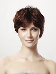 povoljno -Sintetičke perike / Ljudski kose bez kaplama Klasika Stepenasta frizura Sintentička kosa Perika Dnevno / Ravan kroj