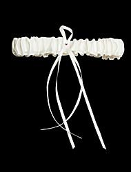Garter Satin Rhinestone Ribbon Ivory