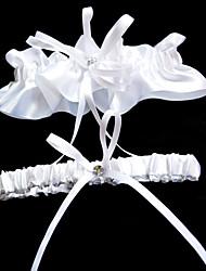 abordables -Poliéster Clásico Liga de la boda  -  Pedrería Corbata de Lazo Ligas