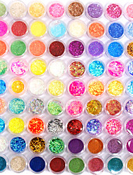 cheap -72 Colors Glitter Nail Art Decoration Combination