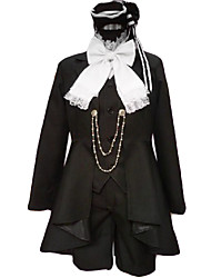 cheap -Inspired by Black Butler Ciel Phantomhive Anime Cosplay Costumes Cosplay Suits Patchwork Long Sleeves Cravat Coat Vest Shirt Shorts For