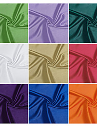 98% Polyester/2% Spandex Stretch Satin  Fabric By The Yard (Many Colors)