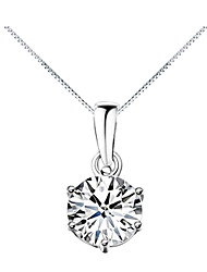 Women's Pendant Necklaces Six Prongs Zircon Cubic Zirconia Alloy Fashion Costume Jewelry Jewelry For Daily