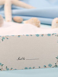 cheap -Place Card - Blue Flower Print (Set of 12) Wedding Reception Beautiful