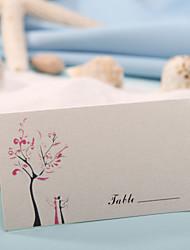 sted kort og holdere sted kort - lad os flyve (sæt af 12) bryllup modtagelse