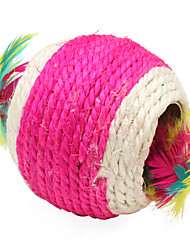 cheap -Cat Cat Toy Pet Toys Ball Feather Toy Woven Textile For Pets