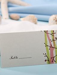 bordkort og indehavere sted card - foråret knopper (sæt af 12)