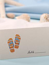 sted kort og holdere sted kort - tøfler (sæt af 12) bryllup reception