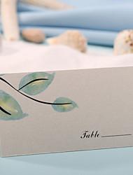sted kort og holdere bordkort - garden tema (sæt af 12)