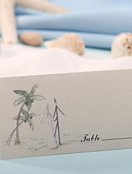 sted kort - lykkeligt bryllup (sæt af 12) placecard indehavere bryllup reception