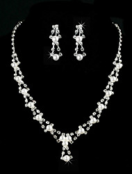 cheap -Amazing Alloy With Rhinestone / Imitation Pearl Women's Jewelry Set Including Necklace, Earrings