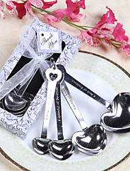 """Love Beyond Measure"" Heart Shaped Measuring Spoons Wedding Favor"