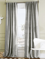 Rod Pocket Grommet Top Tab Top Double Pleat Two Panels Curtain Modern Solid 100% Polyester Polyester Material Curtains Drapes Home