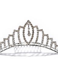 abordables -aleación de lujo con diamantes de imitación de la boda el checo tiara nupcial