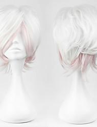 abordables -Pelucas de Cosplay Diabolik Lovers Cosplay Blanco Corto Anime/Videojuego Pelucas de Cosplay 30 CM Hombre / Mujer