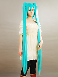 cheap -Cosplay Wigs Vocaloid Hatsune Miku Blue Extra Long Anime/ Video Games Cosplay Wigs 150 CM Male / Female