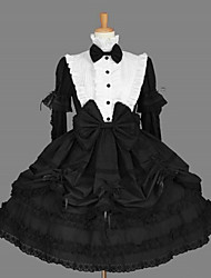 cheap -Gothic Lolita Dress Classic Lolita Dress Princess Women's One Piece Dress Cosplay Black Long Sleeves