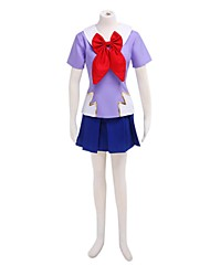 Inspired by Cosplay Cosplay Anime Cosplay Costumes Cosplay Suits School Uniforms Patchwork Short Sleeves Top Skirt For Female