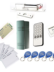 cheap -Single Door Controller Kits with IR Keypad Electric Bolt,10 EM-ID Card,Power Supply)