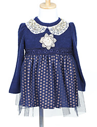 A-Line Princess Short / Mini Flower Girl Dress - Tulle Woolen Cloth Long Sleeves Jewel Neck with Pearl