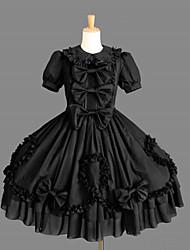 preiswerte -Gothik Prinzessin Punk Damen Einteilig Kleid Cosplay Kurze Ärmel Kurzarm