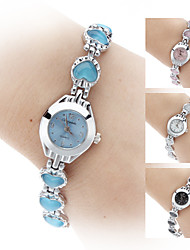 Women's Crystal Heart Style Alloy Quartz Analog Bracelet Watch (Assorted Colors) Cool Watches Unique Watches Fashion Watch
