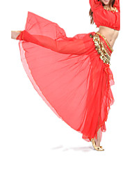 cheap -Belly Dance Skirt Women's Training Performance Chiffon Split Front Dropped Skirt