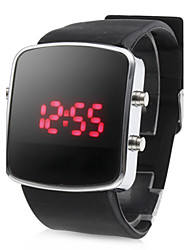 cheap -Men's Wrist Watch Calendar / date / day / LED Silicone Band Black