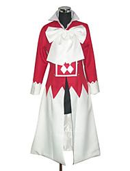 Inspireret af Pandora Hjerter Alice Anime Cosplay Kostumer Cosplay Kostumer Patchwork Langærmet Halsklud Kappe Til Kvindelig